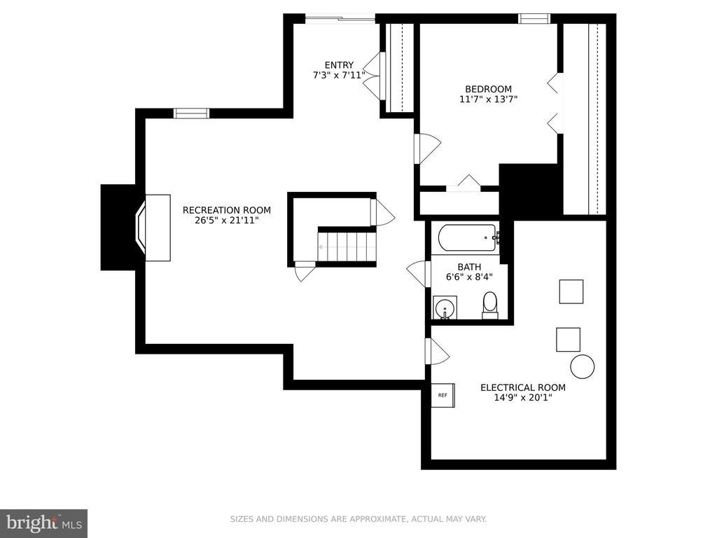 Lower level floor plan - 13619 BRIDGELAND LN, CLIFTON