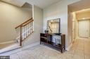 Tile foyer - 24953 EARLSFORD DR, CHANTILLY