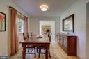 Dining Room - View Towards Entrance Foyer - 2502 CHILDS LN, ALEXANDRIA