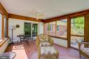 Screened-Porch View to Family Room/Breakfast Room - 2502 CHILDS LN, ALEXANDRIA