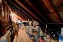 Walk-In Attic - So Much Extra Storage Space! - 2502 CHILDS LN, ALEXANDRIA