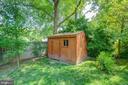 Rear Yard - Custom Barn-Like Garden/Tool Shed - 2502 CHILDS LN, ALEXANDRIA