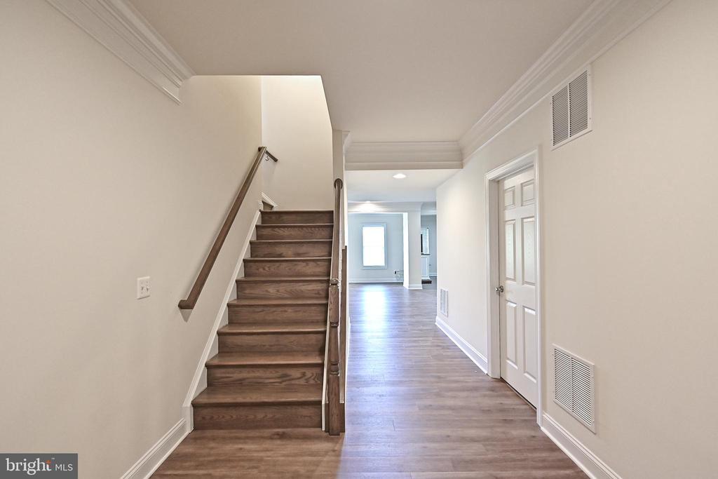 Basement stairs and new flooring - 17215 IVANDALE RD, HAMILTON
