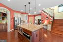 Kitchen Island with lots of counter space - 9903 S HARRIS FARM RD, SPOTSYLVANIA