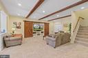 Basement Recreation Room with recessed lighting - 9903 S HARRIS FARM RD, SPOTSYLVANIA