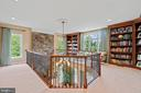 Library open to family room below - 9903 S HARRIS FARM RD, SPOTSYLVANIA
