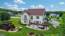Aerial View of the back of the home - 9903 S HARRIS FARM RD, SPOTSYLVANIA
