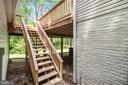 stairs to the deck - 15302 SWEETRIDGE RD, SILVER SPRING