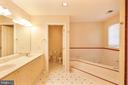 primary bath with Jacuzzi tub - 15302 SWEETRIDGE RD, SILVER SPRING
