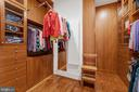 Sumptuous Closets with Pull-down Reach Bars - 11500 TURNING LEAF CT, SPOTSYLVANIA