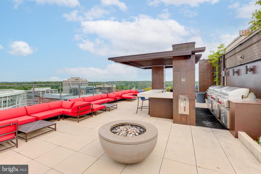 Roof Top Deck Firepit and BBQ - 851 N GLEBE RD #115, ARLINGTON