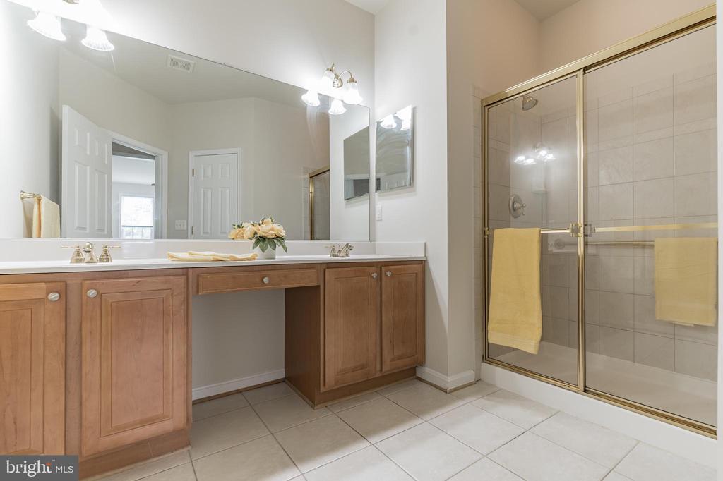 Master Bath  Double-Sink Vanity, and Water Closet - 13206 TRIPLE CROWN LOOP, GAINESVILLE