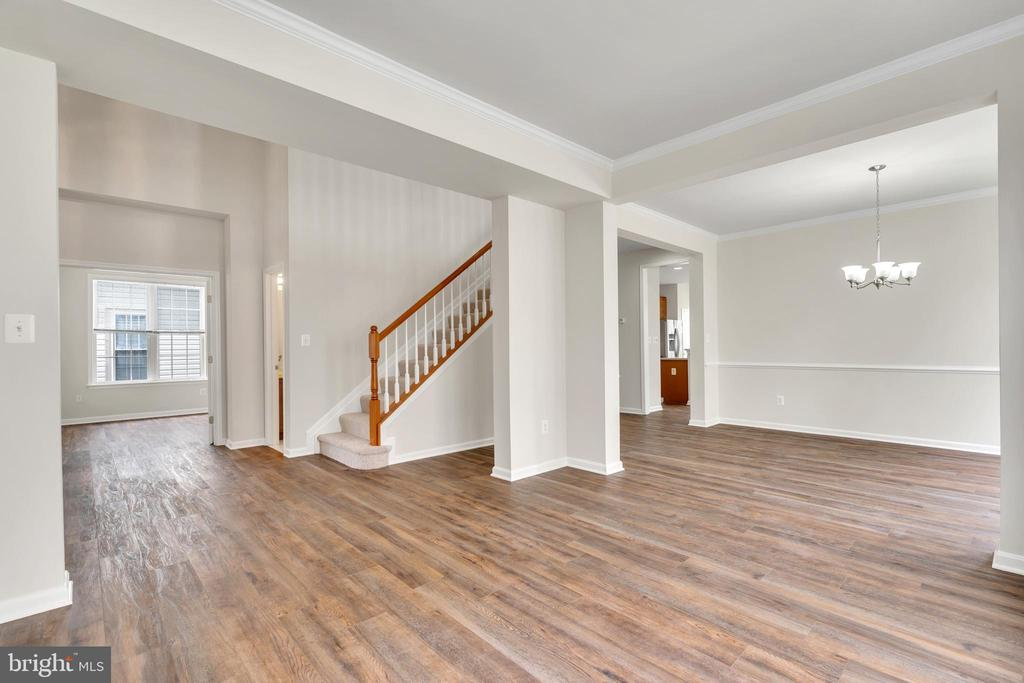 Living Room New  LVP  Floors on Entire Main Level - 13206 TRIPLE CROWN LOOP, GAINESVILLE