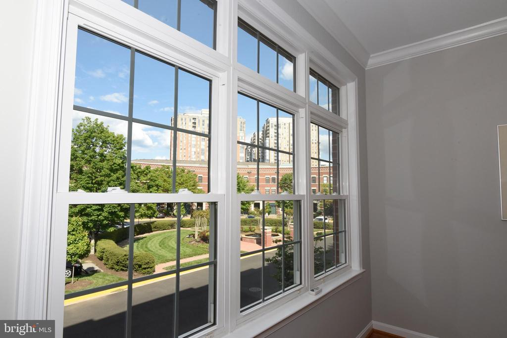 Courtyard view from living room - 12143 CHANCERY STATION CIR, RESTON