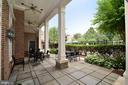 Clubhouse patio - 12143 CHANCERY STATION CIR, RESTON
