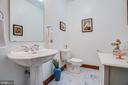 Half Bathroom on long hallway - 6559 OVERLOOK DR, KING GEORGE