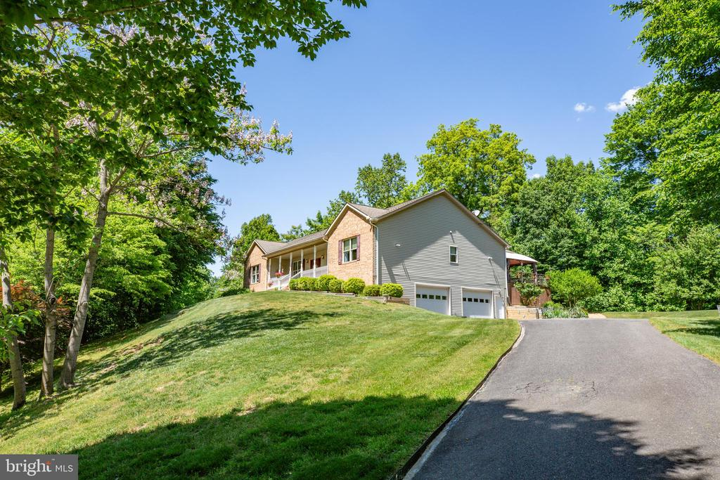 View from the bottom of the driveway - 6559 OVERLOOK DR, KING GEORGE