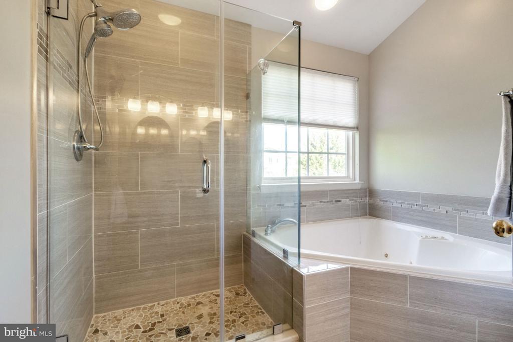 Upgraded Frameless Shower & Soaking Tub - 25554 DABNER DR, CHANTILLY