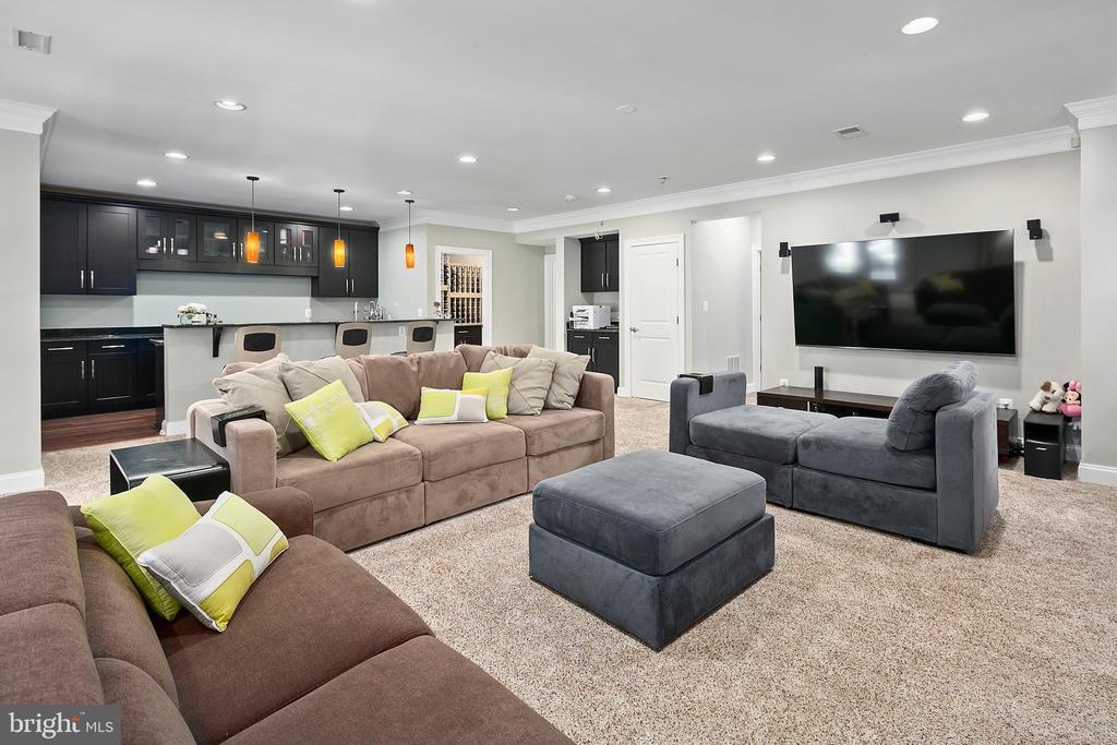 Lower level recreation room - 2507 11TH ST N, ARLINGTON