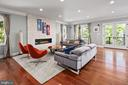 Family room opens to covered porch - 2507 11TH ST N, ARLINGTON