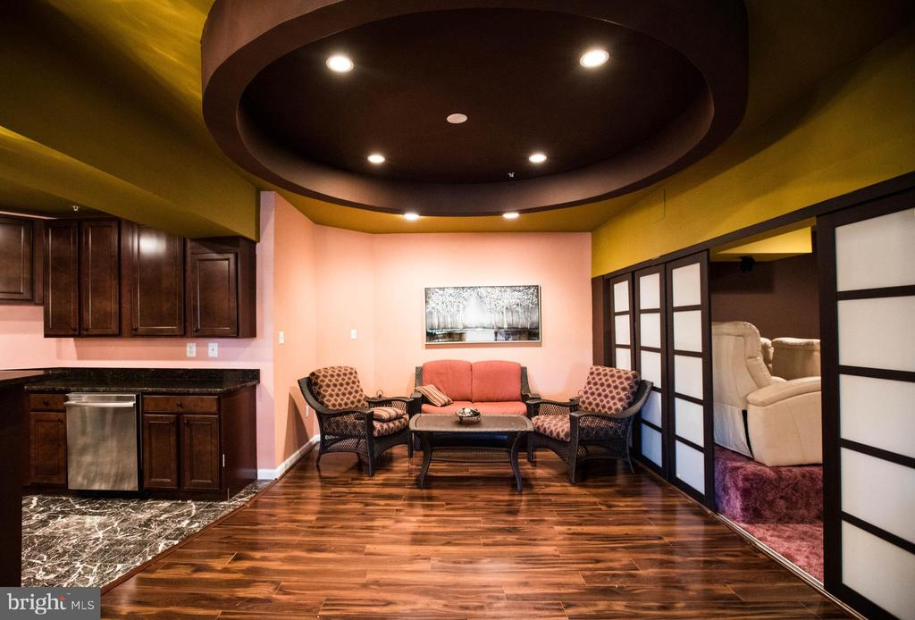 Rec room by kitchen and theatre entrance - 25103 HIGHLAND MANOR CT, GAITHERSBURG