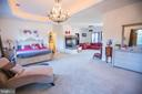 Master bedroom with gas fireplace - 25103 HIGHLAND MANOR CT, GAITHERSBURG