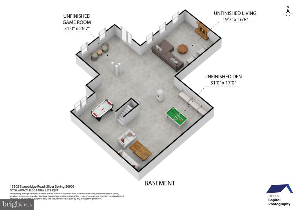 floor plan - basement - 15302 SWEETRIDGE RD, SILVER SPRING