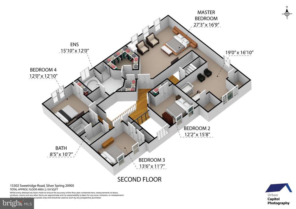 floor plan - second floor - 15302 SWEETRIDGE RD, SILVER SPRING