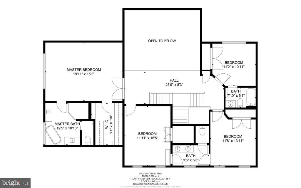 Floorplan - Upper Level - 47273 OX BOW CIR, STERLING