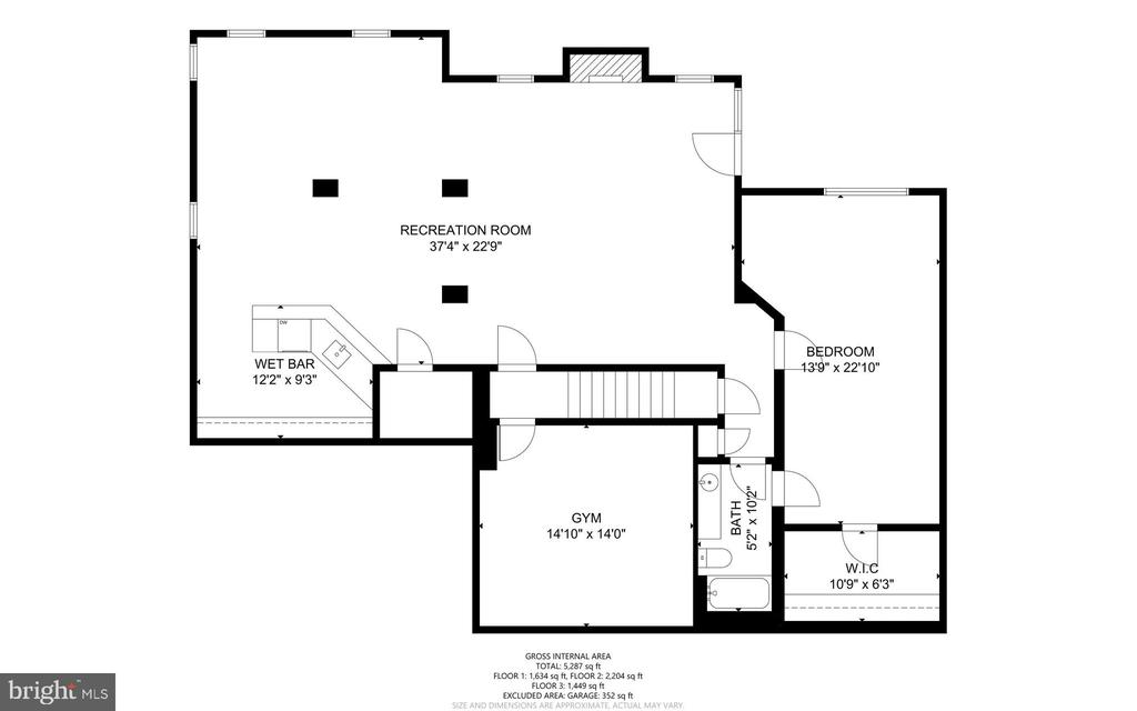 Floorplan - Lower Level Walk-Out Level - 47273 OX BOW CIR, STERLING
