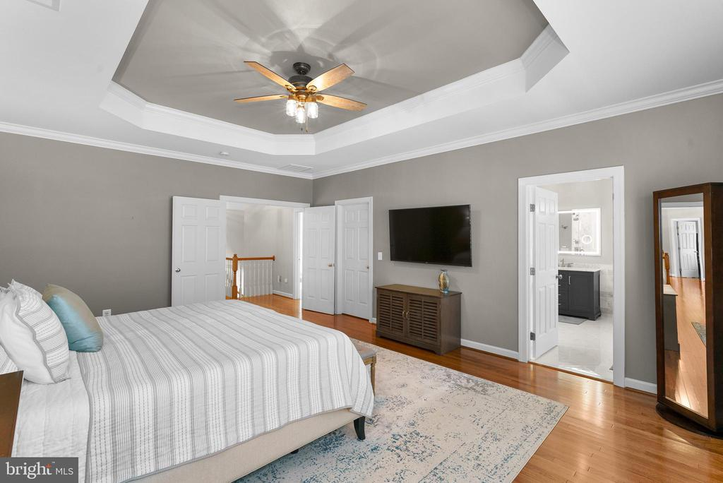 Tray Ceiling, New Fan in Primary Bedroom - 47273 OX BOW CIR, STERLING