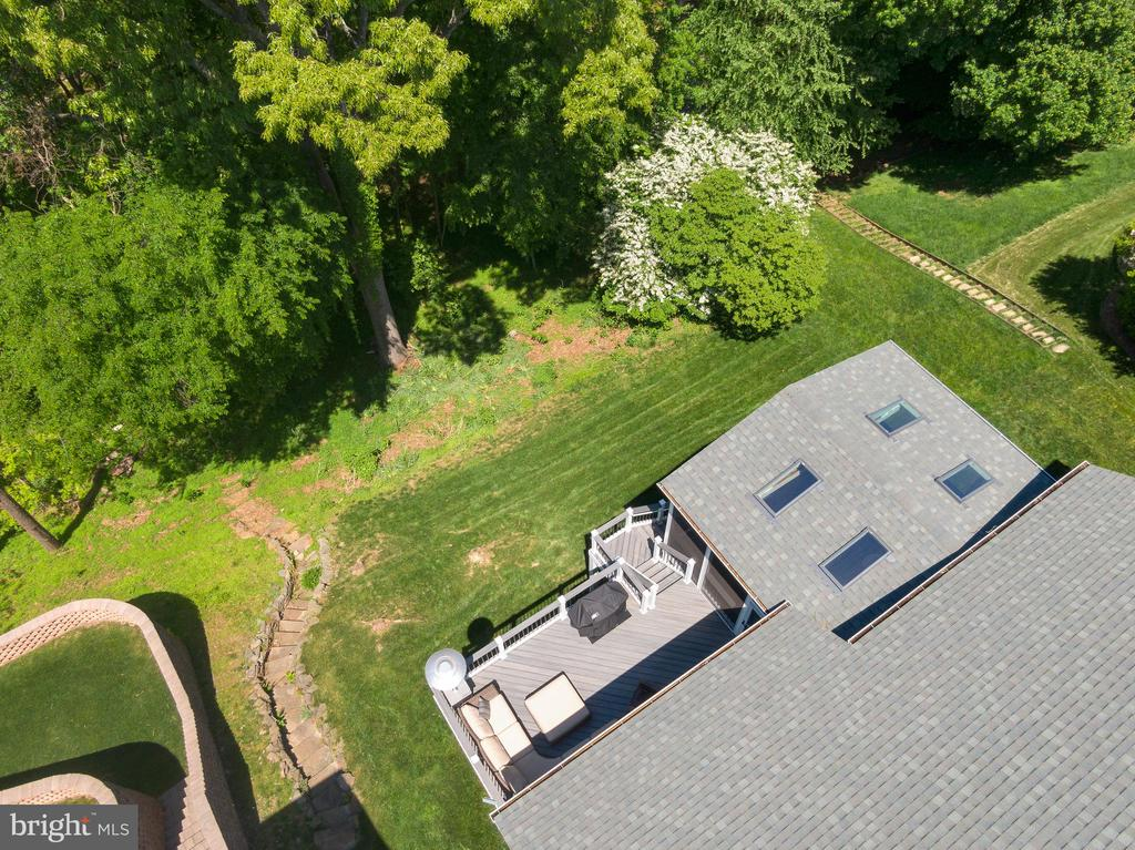 View of Woods from Above - 47273 OX BOW CIR, STERLING