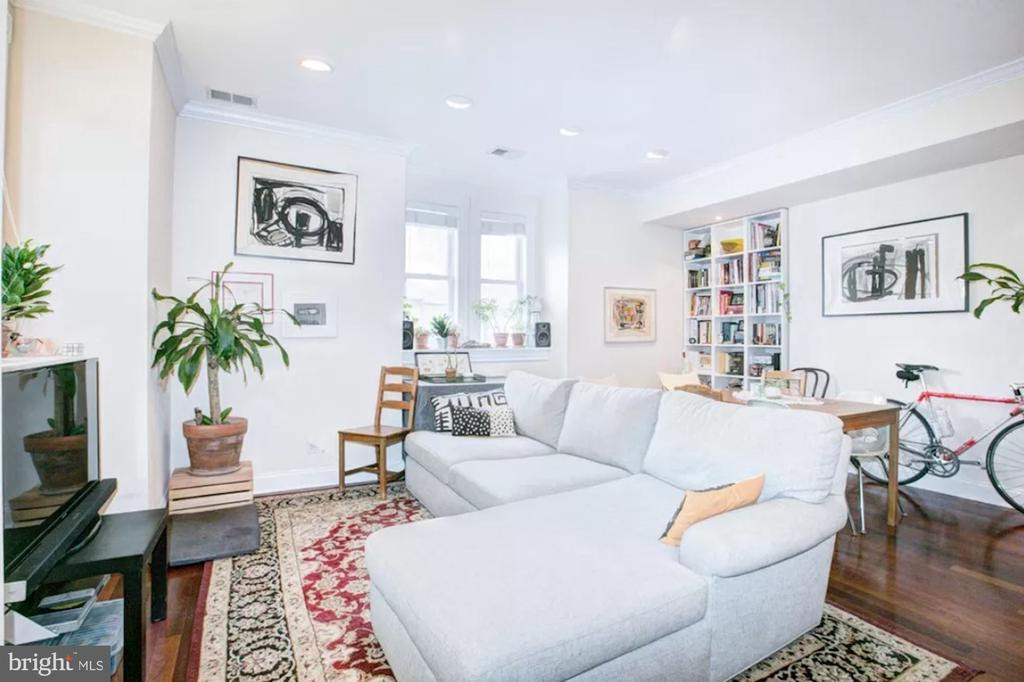 Unit 3 - Living Room with Recessed Lighting - 1700 13TH ST NW, WASHINGTON