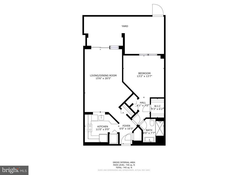 Floor Plan (Patio, not Yard) - 2100 LEE HWY #G11, ARLINGTON
