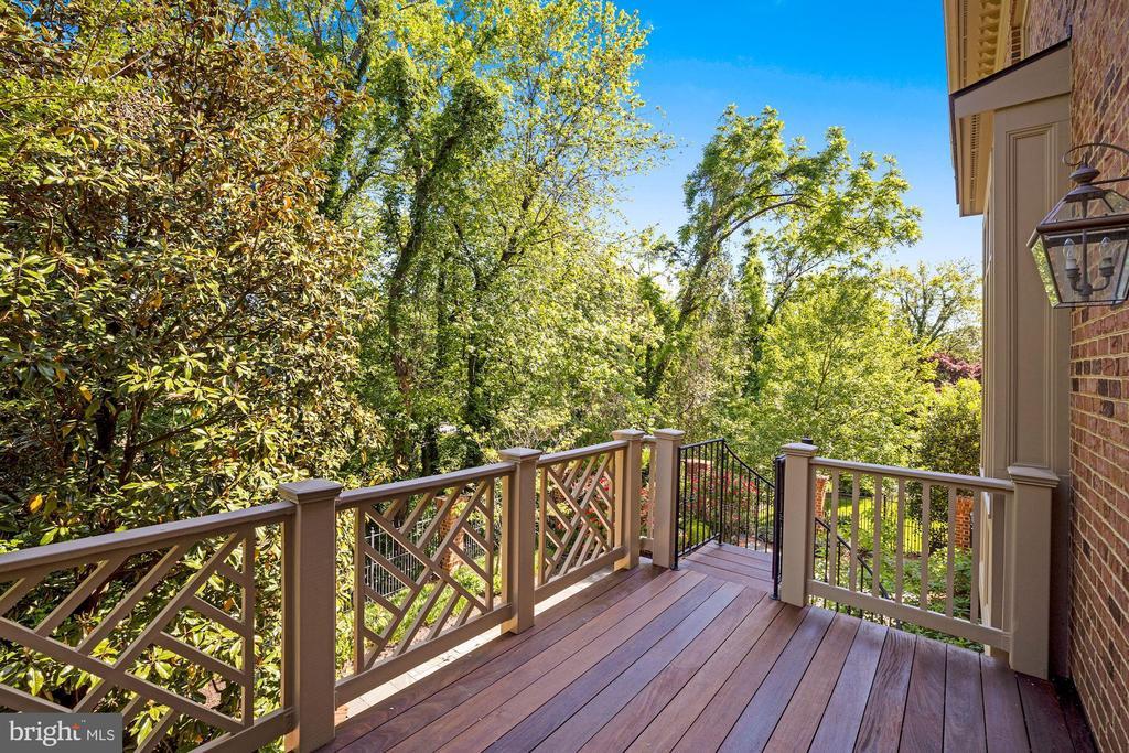 Rear Deck off Family Room - 3823 N RANDOLPH CT, ARLINGTON