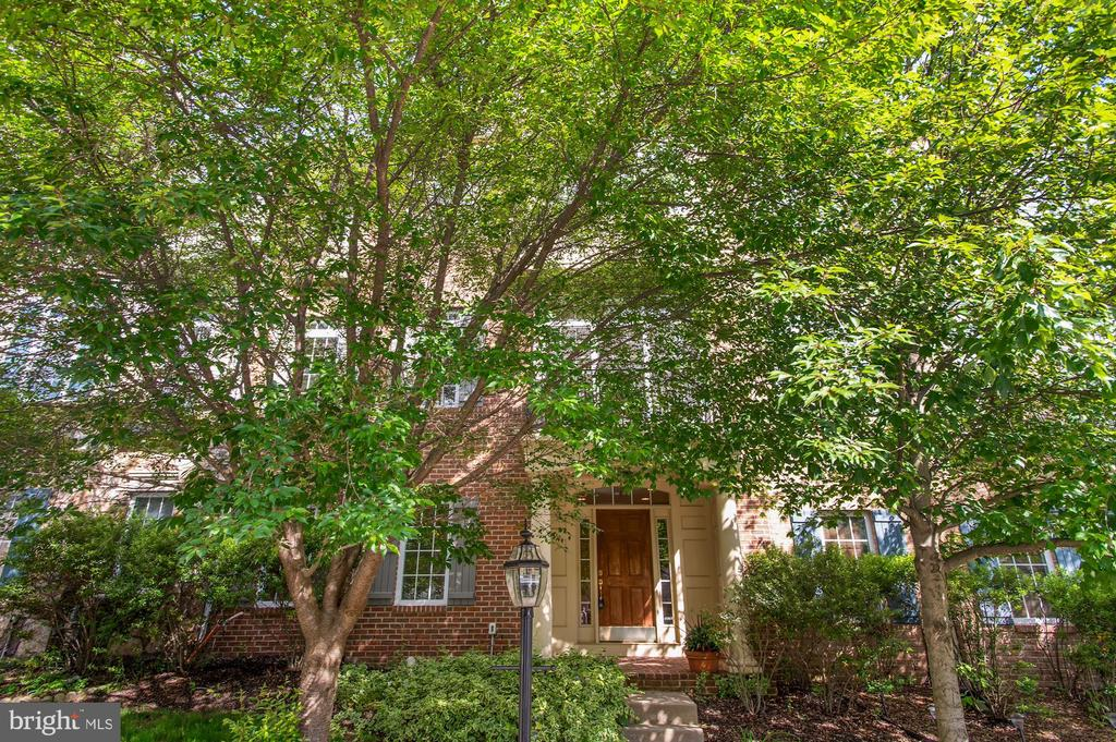 Front exterior with mature trees - 24905 EARLSFORD DR, CHANTILLY