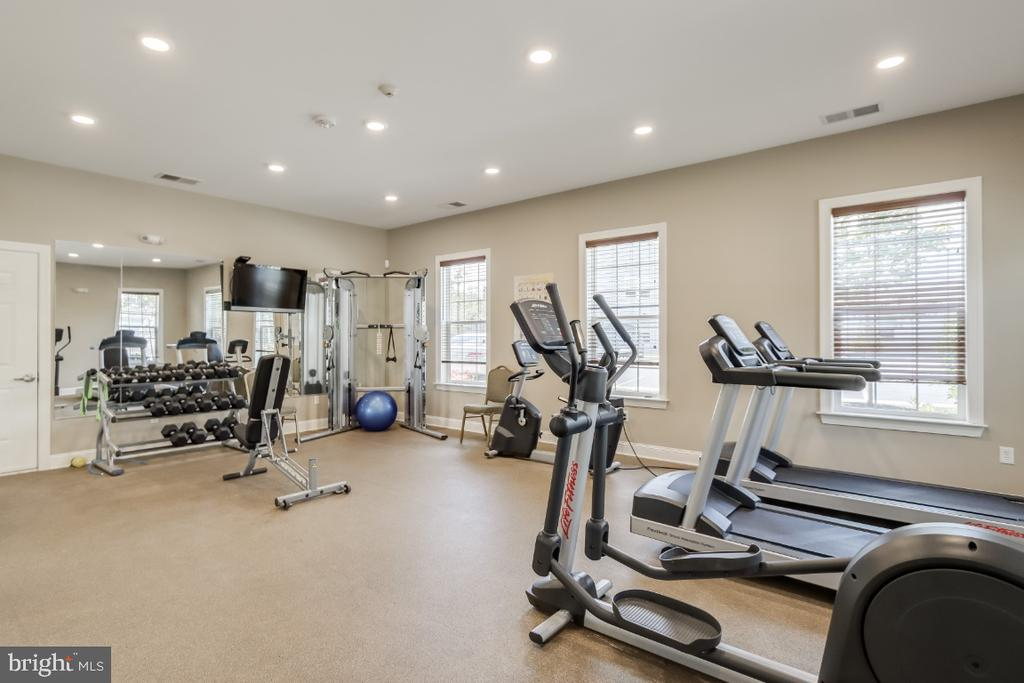 Clubhouse gym/ exercise room - 9754 KNOWLEDGE DR, LAUREL