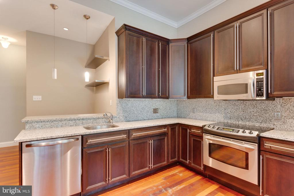 Unit 1 - Kitchen with Stainless Steel Appliances - 1700 13TH ST NW, WASHINGTON