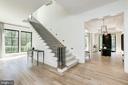 Stairway to Upper level - 8905 HOLLY LEAF LN, BETHESDA