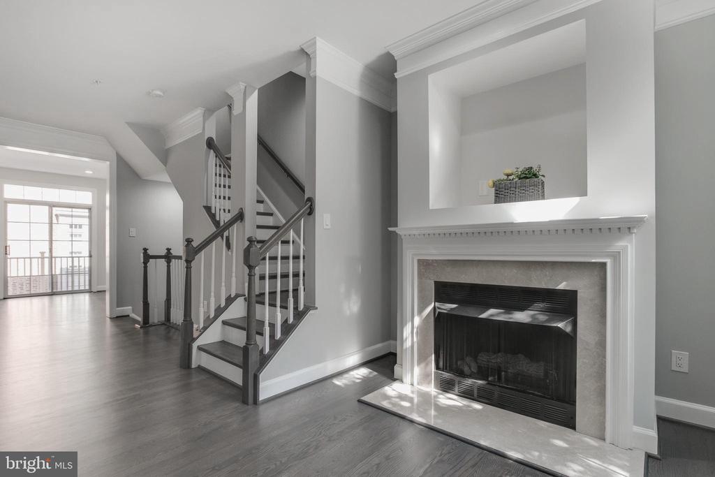 Fireplace - 1328 N ADAMS CT, ARLINGTON