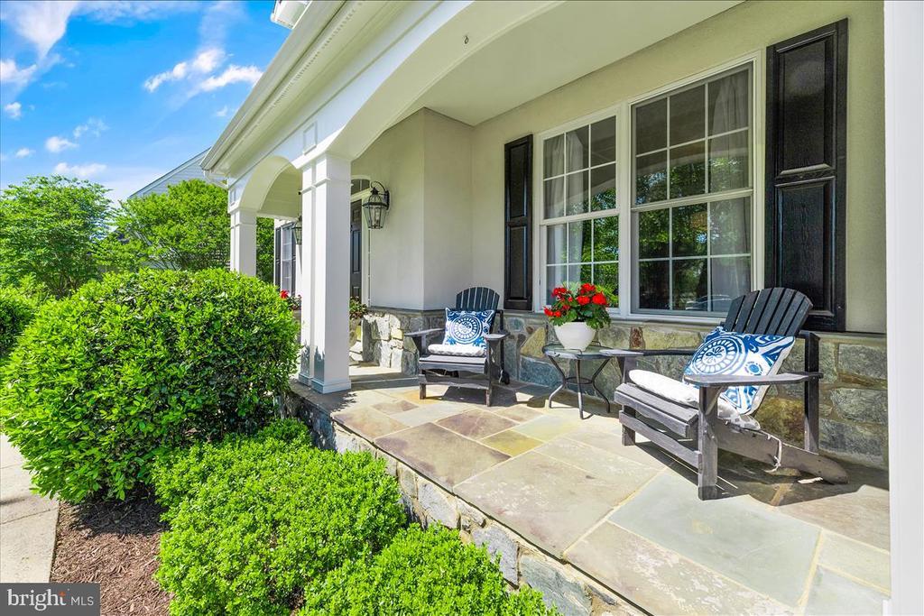 Flagstone porch - 19445 MILL DAM PL, LEESBURG