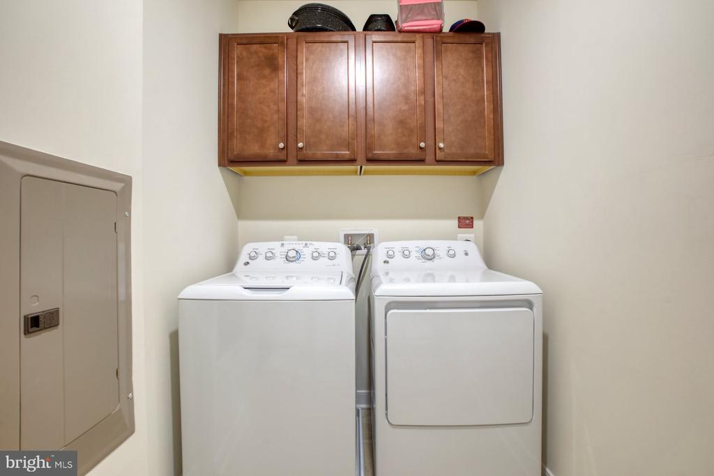 Laundry Room with Cabinets for Storage - 43095 WYNRIDGE DR #203, BROADLANDS