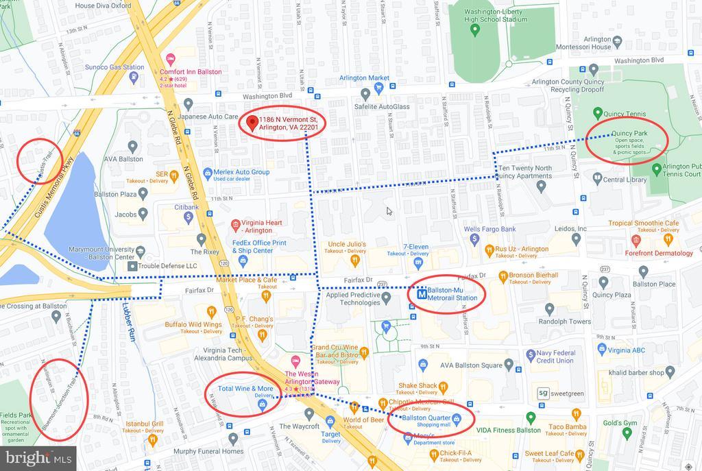 5 Blocks to Ballston Metrorail Station - 1186 N VERMONT ST, ARLINGTON