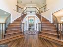 Dual Staircase at the Entrance - 12809 GLENDALE CT, FREDERICKSBURG