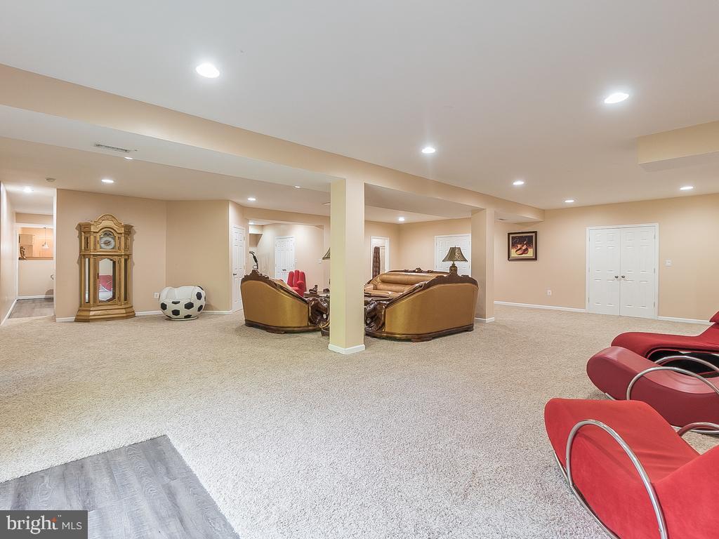 Basement Huge REC. Room off the  Sitting area - 12809 GLENDALE CT, FREDERICKSBURG