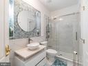 Main Level Bath Next to Bedroom/Office - 12809 GLENDALE CT, FREDERICKSBURG