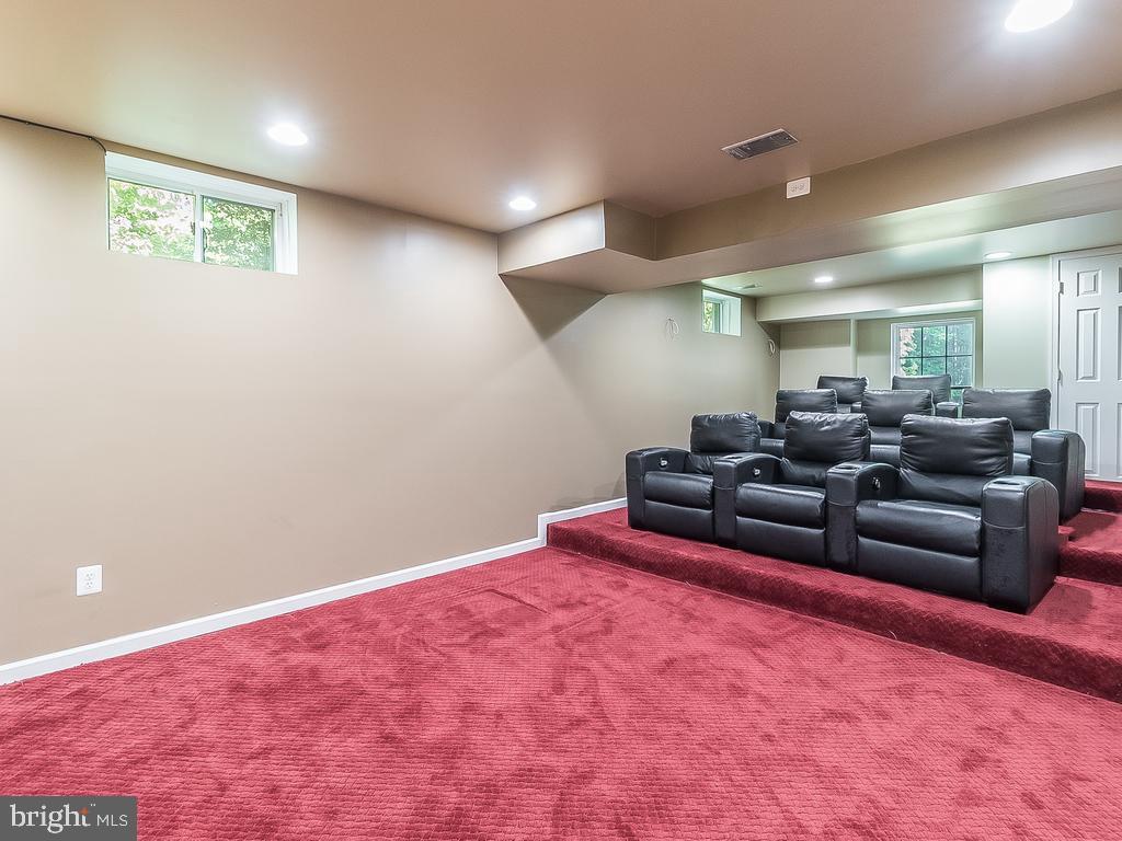 Basement Great Theatre Room - 12809 GLENDALE CT, FREDERICKSBURG