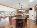 Main Kitchen Island -Breakfast Nook -Open Floor - 12809 GLENDALE CT, FREDERICKSBURG