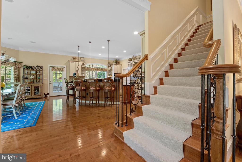 Oak Stairs to Upper Level are Nice & Wide - 11500 TURNING LEAF CT, SPOTSYLVANIA