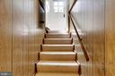 Carpeted Stairs & Private side entrance to bsmt - 2415 EVANS DR, SILVER SPRING